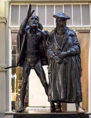 Faust-die-Rockoper-in-Auerbachs-Keller-Statue